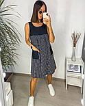 Жіночий літній сарафан з софта в смужку з кишенями (Норма і батал), фото 5