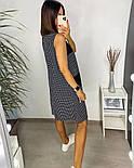 Жіночий літній сарафан з софта в смужку з кишенями (Норма і батал), фото 6