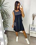 Жіночий літній сарафан з софта в смужку з кишенями (Норма і батал), фото 7