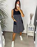 Жіночий літній сарафан з софта в смужку з кишенями (Норма і батал), фото 9