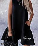 Летнее женское нежное платье с воланом в расцветках (Норма), фото 4