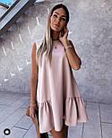 Летнее женское нежное платье с воланом в расцветках (Норма), фото 7