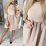 Женское легкое джинсовое платье с рукавами-фонарик три четверти (Норма), фото 2
