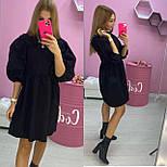 Женское легкое джинсовое платье с рукавами-фонарик три четверти (Норма), фото 3