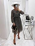 Жіноче ніжна шифонова сукня в квітковий принт довжини міді (Норма), фото 2