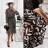 Жіноче ніжна шифонова сукня в квітковий принт довжини міді (Норма), фото 4