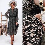 Жіноче ніжна шифонова сукня в квітковий принт довжини міді (Норма), фото 6