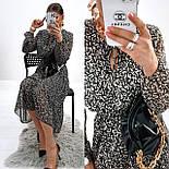 Жіноче ніжна шифонова сукня в квітковий принт довжини міді (Норма), фото 7