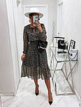 Жіноче ніжна шифонова сукня в квітковий принт довжини міді (Норма), фото 9