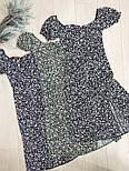 Женское нежное приталенное платье с разрезом в цветочный принт (Норма), фото 3