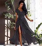 Модне жіноче літнє плаття на запах в горох (Норма), фото 5