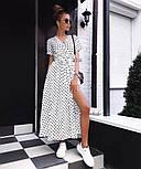 Модне жіноче літнє плаття на запах в горох (Норма), фото 6