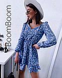 Ніжне жіноче плаття в квітковий принт з софта (Норма), фото 3