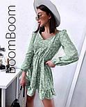 Ніжне жіноче плаття в квітковий принт з софта (Норма), фото 5