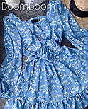 Ніжне жіноче плаття в квітковий принт з софта (Норма), фото 7
