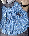Ніжне жіноче плаття в квітковий принт з софта (Норма), фото 9