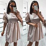 Женское модное свободное платье из коттона с объемными рукавами (Норма), фото 4