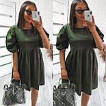 Женское модное свободное платье из коттона с объемными рукавами (Норма), фото 5