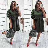 Женское модное свободное платье из коттона с объемными рукавами (Норма), фото 7