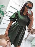 Женское модное свободное платье из коттона с объемными рукавами (Норма), фото 8