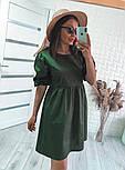 Женское модное свободное платье из коттона с объемными рукавами (Норма), фото 10