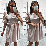 Модне жіноче вільне плаття з котону з об'ємними рукавами (Норма), фото 5