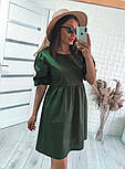 Модне жіноче вільне плаття з котону з об'ємними рукавами (Норма), фото 10