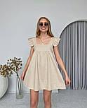 Женское нежное льняное платье свободного кроя ''Крылышки'' (Норма), фото 2