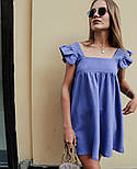 """Жіноче ніжне лляне плаття вільного крою """"Крильця"""" (Норма), фото 3"""