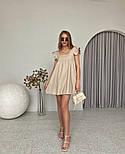 Женское нежное льняное платье свободного кроя ''Крылышки'' (Норма), фото 5