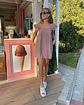 Женское нежное льняное платье свободного кроя ''Крылышки'' (Норма), фото 7