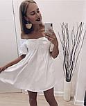 Жіноче ніжне коттоновое міні сукня вільного крою (Норма), фото 2