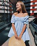 Жіноче ніжне коттоновое міні сукня вільного крою (Норма), фото 3