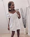 Жіноче ніжне коттоновое міні сукня вільного крою (Норма), фото 4