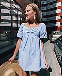Жіноче ніжне коттоновое міні сукня вільного крою (Норма), фото 5