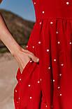 Женское летнее удлиненное платье из софта в горох (Норма), фото 3