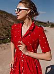 Женское летнее удлиненное платье из софта в горох (Норма), фото 4