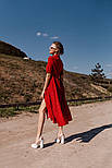 Жіноче літнє видовжене сукню з софта в горох (Норма), фото 5