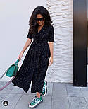 Женское летнее удлиненное платье из софта в горох (Норма), фото 6
