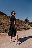 Женское летнее удлиненное платье из софта в горох (Норма), фото 7