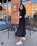 Женское летнее удлиненное платье из софта в горох (Норма), фото 8