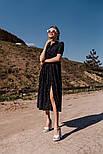 Жіноче літнє видовжене сукню з софта в горох (Норма), фото 9