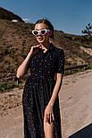 Жіноче літнє видовжене сукню з софта в горох (Норма), фото 10