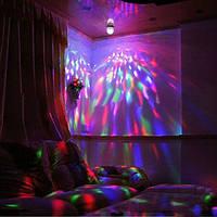 Вращающаяся LED лампа для вечеринок, дискотек  новогодняя+вилка переходник