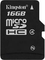 Карта памяти microSD Kingston 16 GB class 4