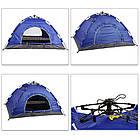 ОПТ Палатка кемпинговая автоматическая 4-х местная 2×2м однослойная 1 вход без тента, фото 4