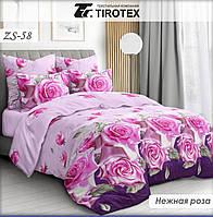 Постельное белье полуторное хлопковое Tirotex Тирасполь модель Нежная роза