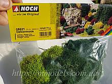 Noch 08621 Набір для ланшафтного дизайну на макеті декоративний мох для масштабу G, 0, H0, TT, N, Z