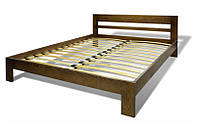 """Двуспальная кровать """"Гармония"""" из массива натурального дерева"""