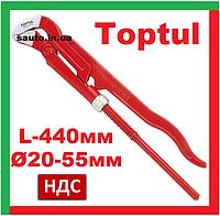 """Toptul DDAD1A48. Ø 20-55 мм, 2.25"""", L-440 мм. Ключ трубный алюминиевый, самозажимной, рычажный, газовый"""